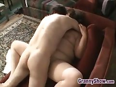 Large Grandma Pleasing Cock And Making out