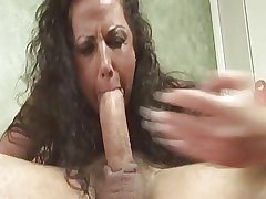 Cum not far from Mommy
