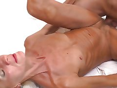 sexy skinny granny licked with an increment of fucked