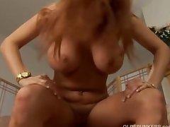 Big tits redhead MILF fucked
