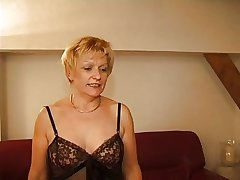 FRENCH Grown-up 7 tow-headed mom milf and a dear boy