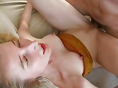 Tall adult blonde has sex forth bf yon make an issue of living room