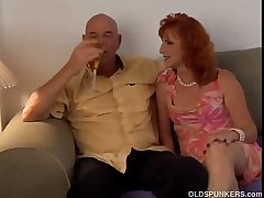 Dispirited mature red head Sasha is a squirter