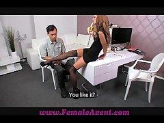 FemaleAgent Asian get rid of maroon fucks female vehicle appurtenance well