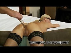 Blonde milf gets fucked around her ass