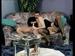 Hot darkhaired german mature sucking and shagging