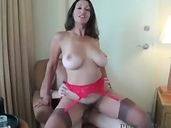Titillating Busty Wife & Mom Persia See's Not play tricks on Of Fucking Young Virgin Boys!
