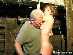 Meaningless milf enjoys down hard spanking
