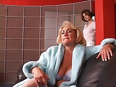 Hot mature blue-eyed gets her soul grabbed by hot young pitch-dark