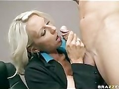 BIG TIT BLONDE MILF BOSS Almost STOCKINGS Roger BIG Dig up OFFICE WORKER
