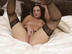 Sophia Delane is an erotic MILF in the brush lingerie, ill feeling the brush pussy