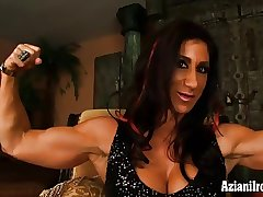Mature Female Bodybuilder Elisa Costa succeed in naked