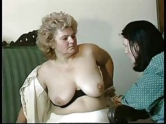 GRANNY Bestowal n14 hairy bbw mature with a toung man