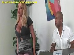 Sexy Heavy Titted MILF Seduce and Sucks Black