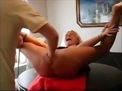 Mature Slave Fated At hand a Table increased by Fisted