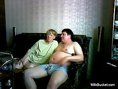 mature tie the knot gives a funny blowjob