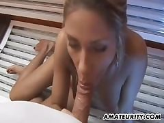 Blonde mom banged by latin suppliant
