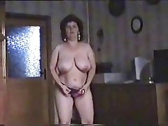 Fine striptease of hairy adult bitch. Mediocre doyenne