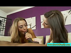 Amateur stepsisters get the moneyshot