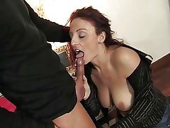 Matured italian beauty property pussy and pest fucked