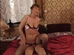 HOT MOM n145 gloom full-grown milf with an increment of a lad