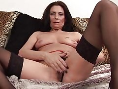 Full-grown Tracey spreads wold stockings