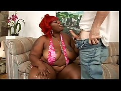 Ebony BBW with an increment of wan man