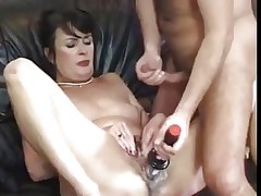 Cute hairy full-grown hardly fucked and toyed
