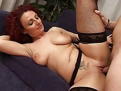 Despondent redhead mature Hot busty mommy