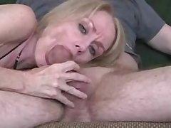 Amateur mature wife gives A- blowjob