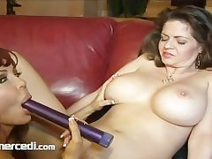 Lesbian MILFs Going At one's fingertips It Chubby Soul