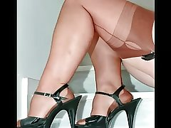 Swank Mature Females in Sheer Nylons