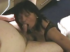 Mature Amateur Asian Gives Blowjob