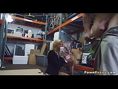 Mature blonde sells pussy at pawnshop 82  75