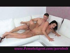 FemaleAgent. Emulate cumshot surprise for MILF