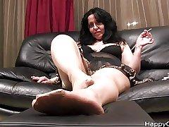 Alisa high heels steps + nylon foot teasing