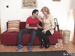 Cute mature lady added to dear boy