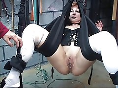 Cute, mature redhead gets her pussy toyed not far from in a sex hack
