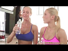 CFNM emdom milf Brandi Adulate in foursome