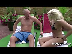 German Milf fuck youngsters alfresco at Incorporate in Holiday