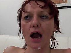 Five cocks for a of age slut