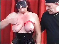 MySexy Piercings Chunky pierced mature slave pierced pussy an