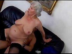 granny Norma fucks young sponger