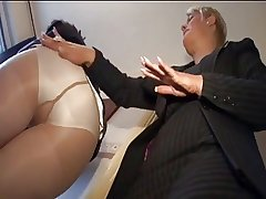 two mature Son ++pantyhose and FF stocking
