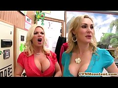 CFNM Tanya Tate creampied all over fourway diversion