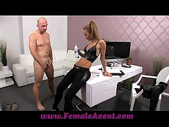 FemaleAgent Casting creampie for repartee agent