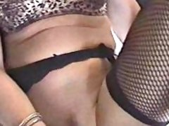 Lingerie Roxy toys her pussy and gets jizzed on