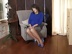 Mature Lady at hand Stockings