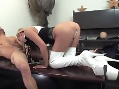 Housewife brunette enjoys the company of her fake cock