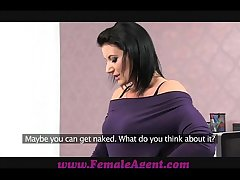 FemaleAgent Double cumshot flabbergast be worthwhile for MILF